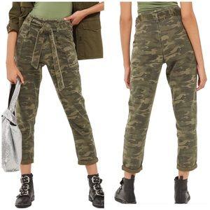 Pants - Paperbag Skinny Leg Camo Pants NWT